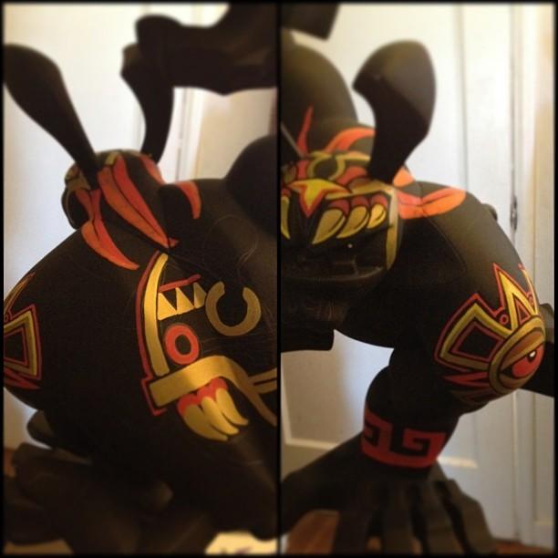 Aztec Paw WIP by Jesse Hernandez
