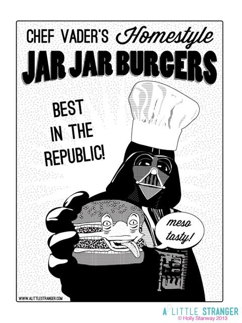 Chef Vaders Homestyle Jar Jar Burger