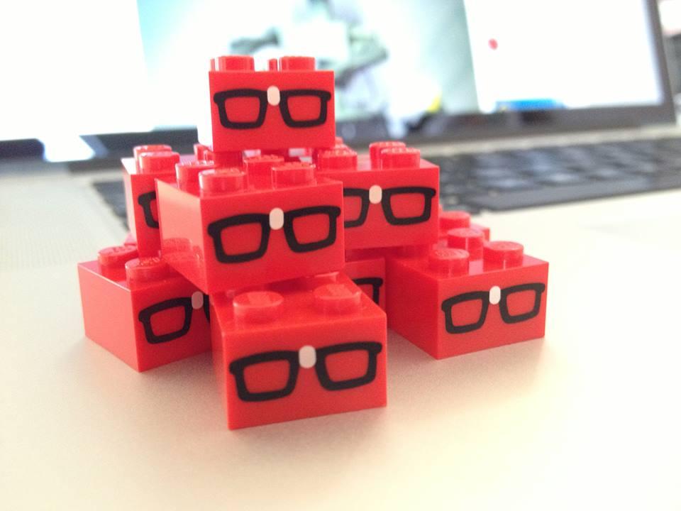 custom printed brick nerd