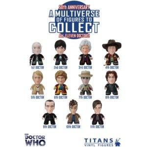 11 Dr Who Vinyl Figures by Lunartik
