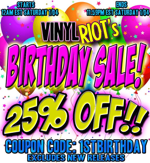 Happy Birthday Vinyl Riot Sale - 25% 1stbirthday