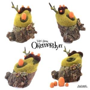 taylored curiosities gibblegump  okemordyn needle felt tree sculpt designer toy around the world in 80 toys  mosaic