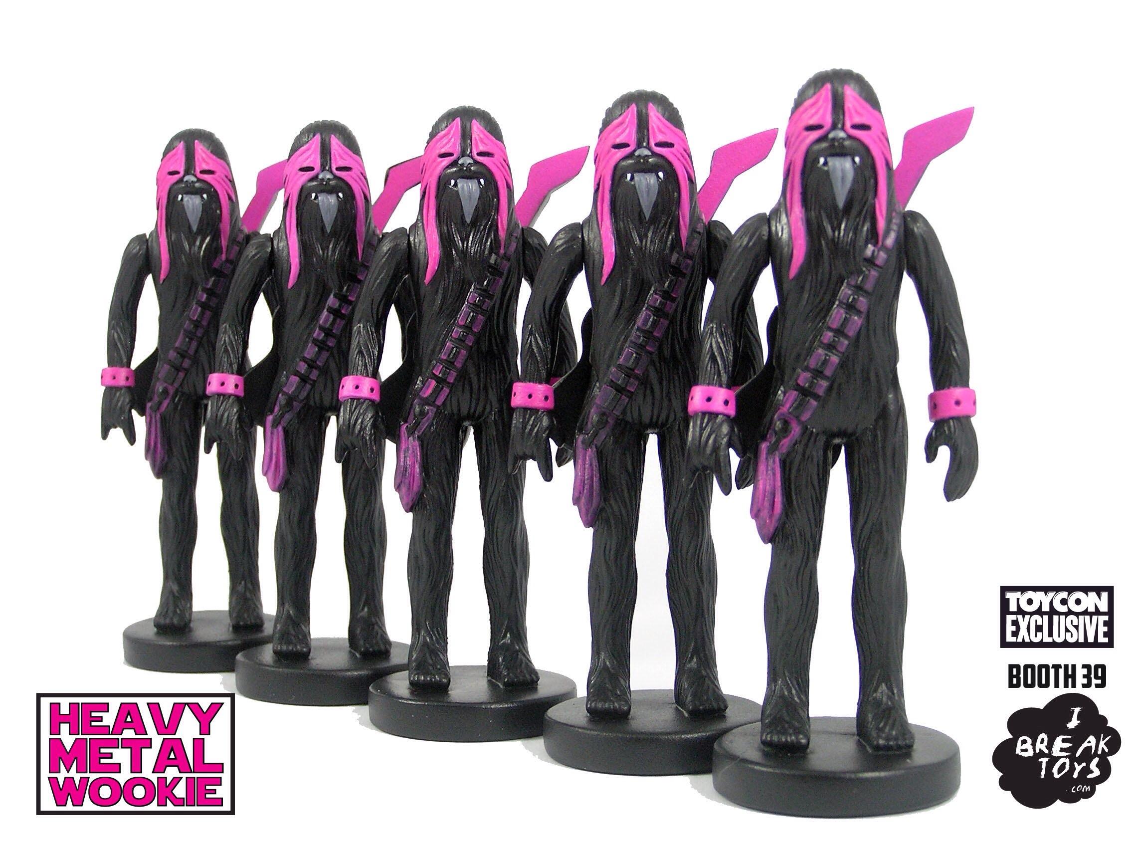 I Break toys pink heavy metal wookie