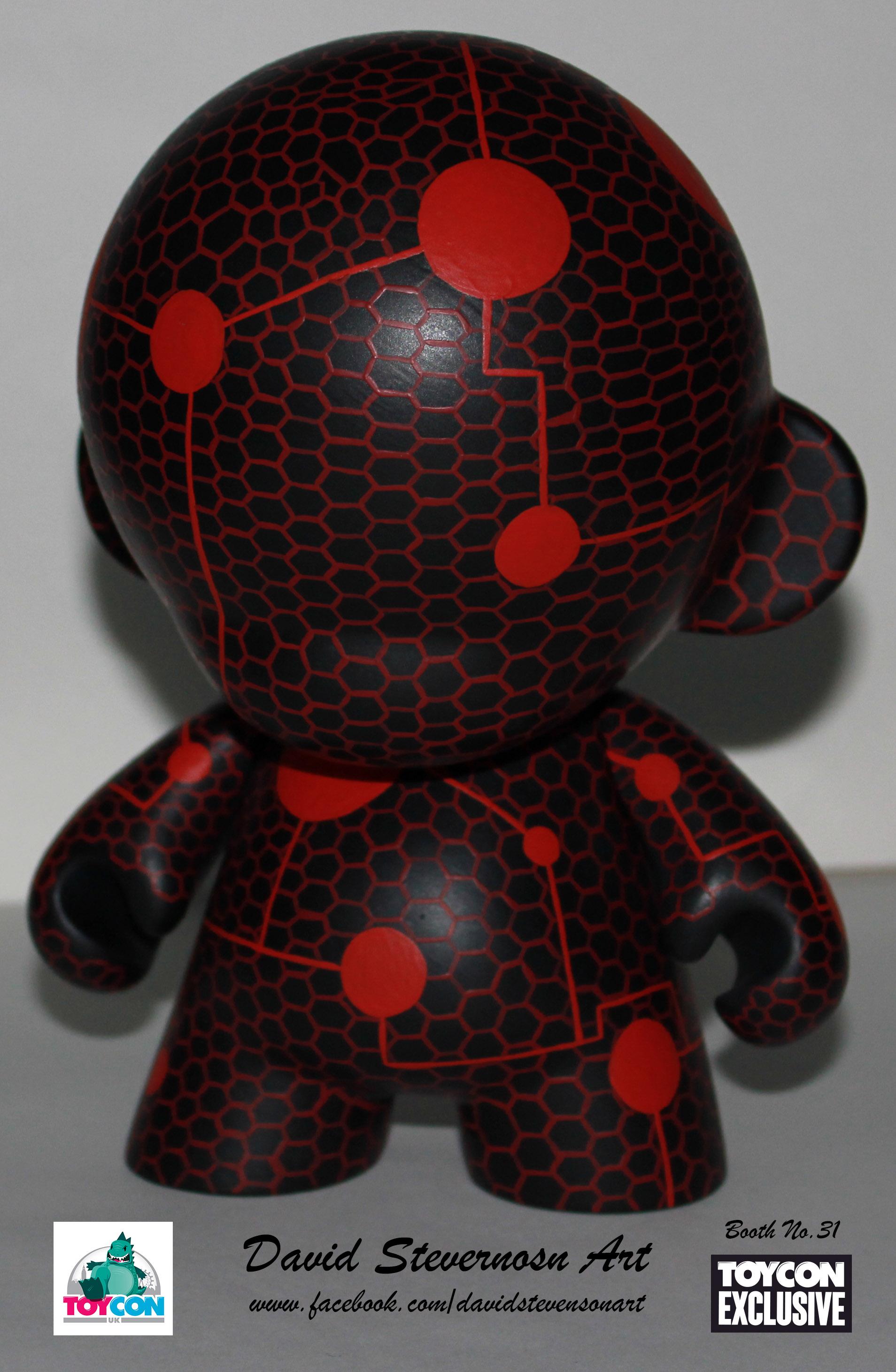 Red tron mesh munny