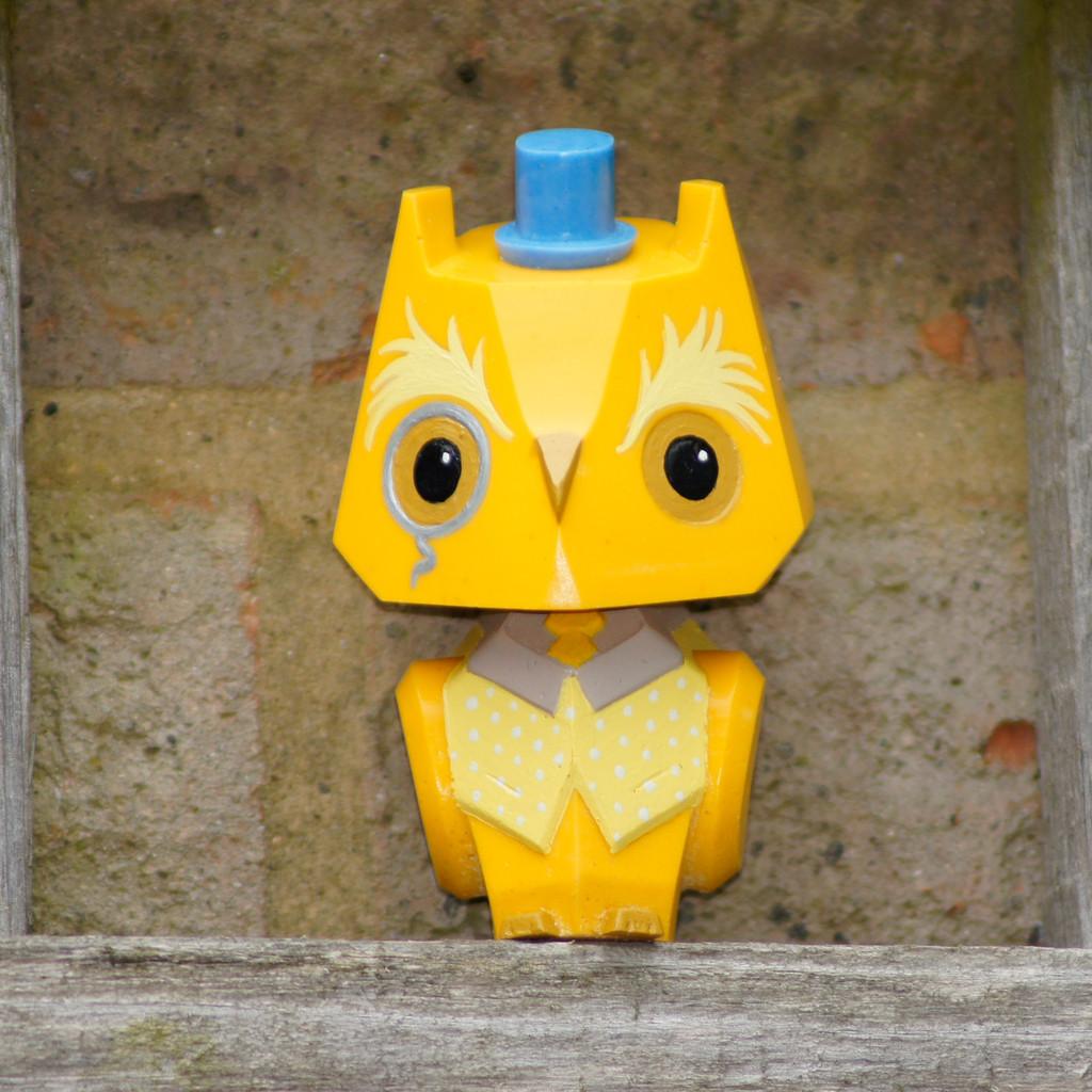 Nemori - 3 Pastel Gentleman Owl Yellow