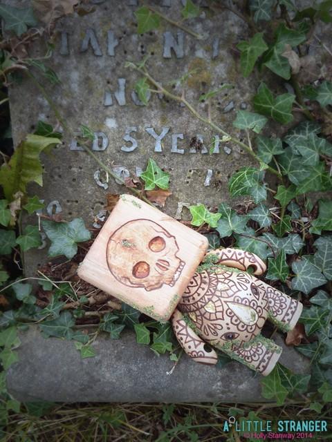 a little stranger Talisman of Divination skull