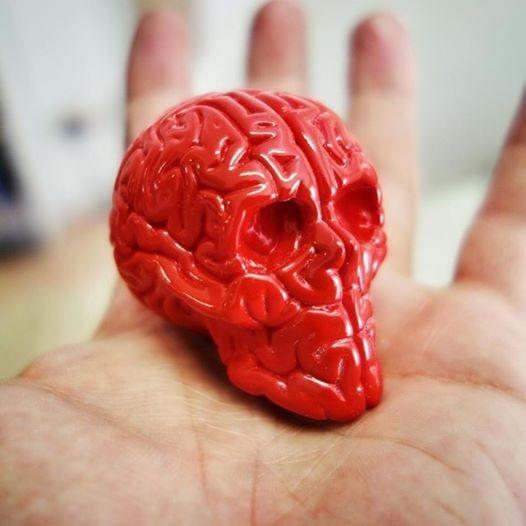 Mini Skull Brain -  Emilio Garcia Lapolab in hand