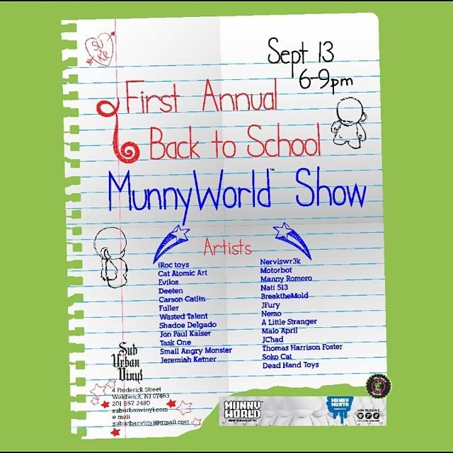 SubUrban Vinyl Back to School Custom Munny Show