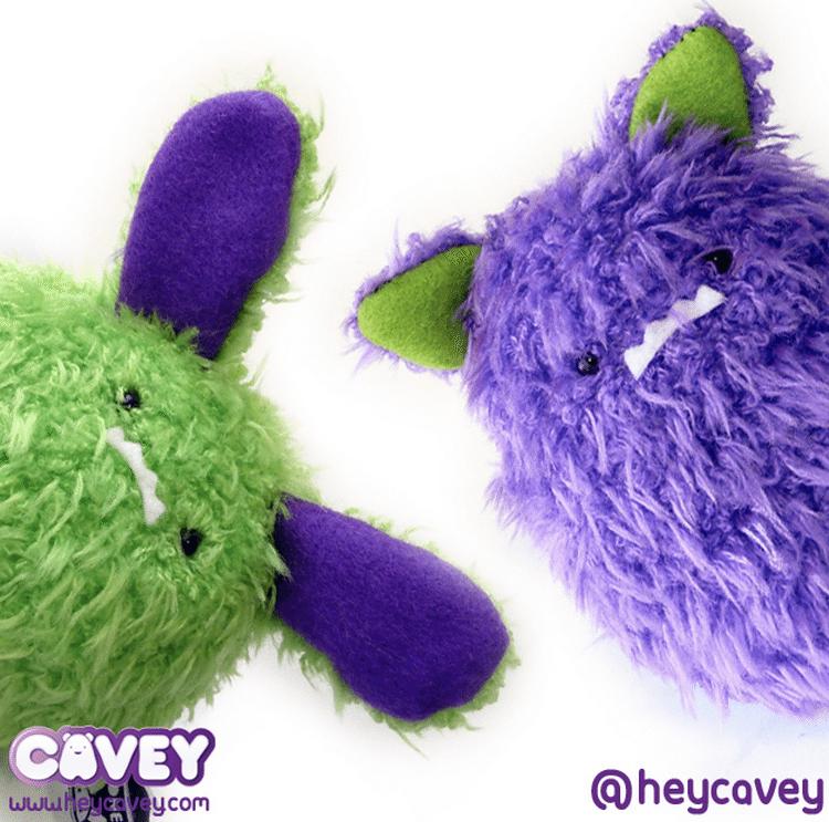 MONSTER CONEY and Monster Cavey plush  A little stranger