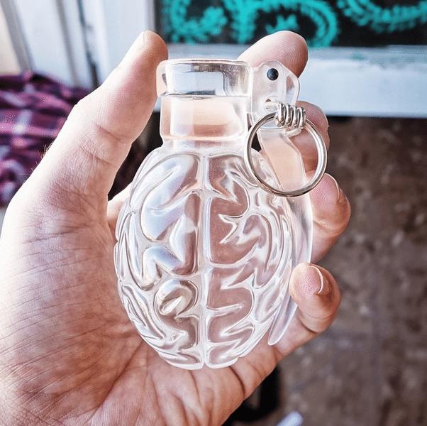 Clear Brainade By Emilio Garcia in hand