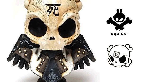 squink x huck gee skullhead bust