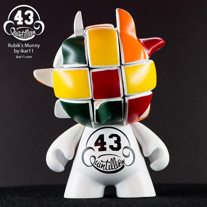 43 Quintillion Rubiks Munny Custom By Ilya Ikar IKargram horn