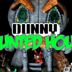 Mikie Graham Zombiemonkie Haunted House Mega Dunny Banner