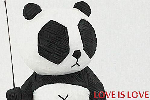 PANDA THINK SERIES 6 LOVE IS LOVE Cacooca close up