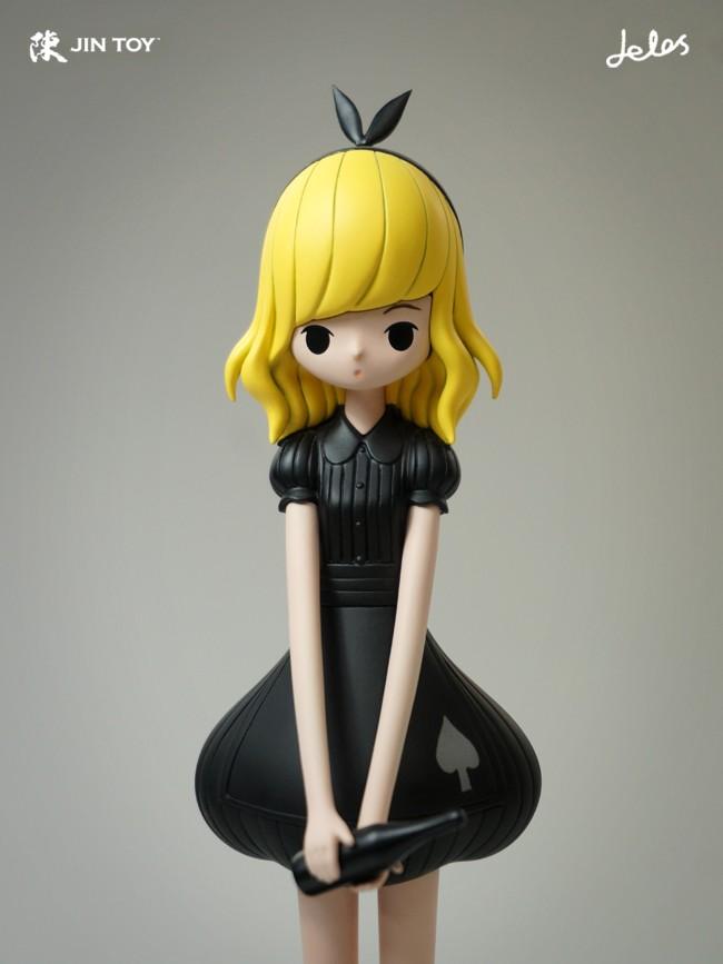 Alice Black Dress JE1 By JINTOY x Delos close up
