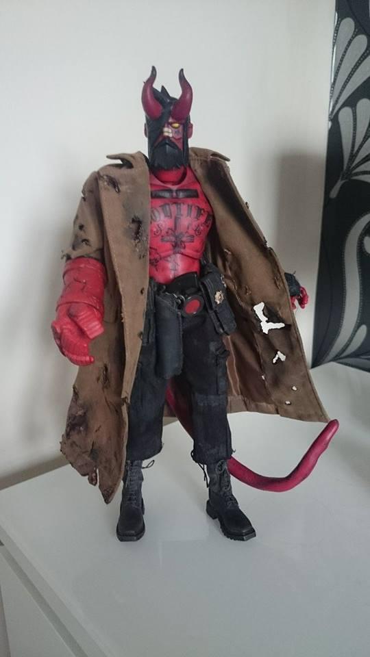 Hellboy JC custom ThreeA By Jamie Wardlow x Wire Wolf standing