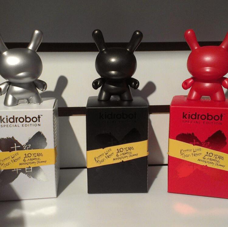 Kidrobot 10ish year anniversary Dunny