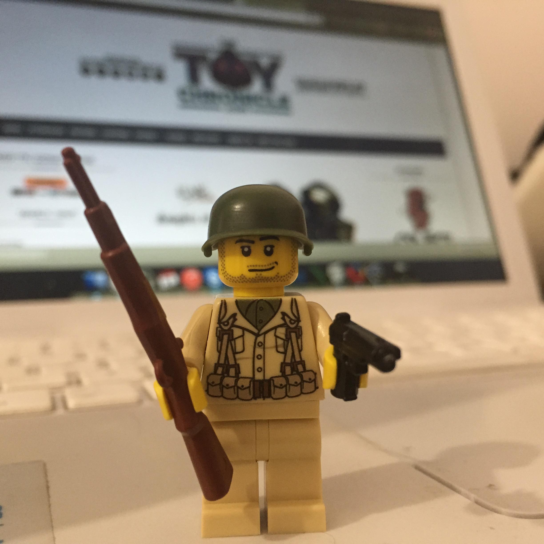 Willy - Custom Modern Brick Warfare Minifig Front