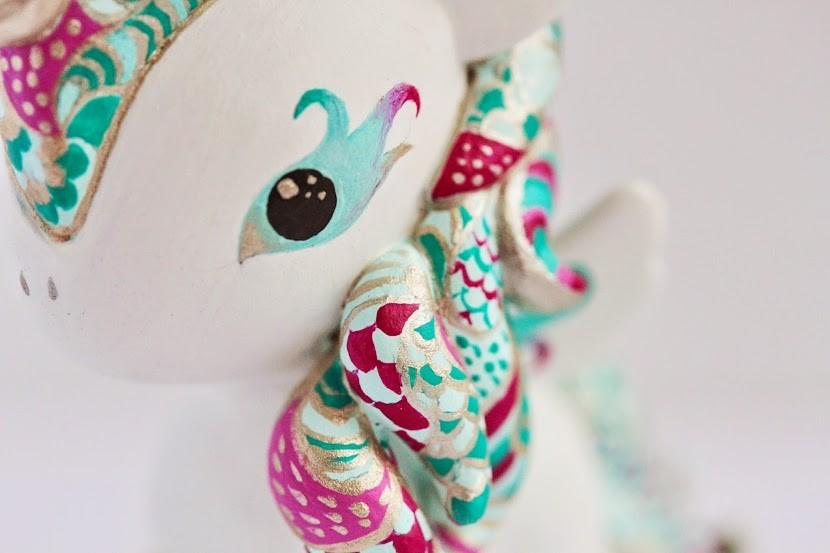 OOAK Tokidoki Unicorno by Mijbil Creatures close up