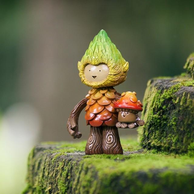 MUJU x TOYCON UK 2015 Tree Spirit Mushroom collector