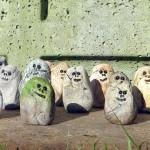Stone Trolls Paul Benson Clay Handmade Sculpted Banner