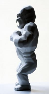 Wild Kong Porcelain by Richard Orlinski side