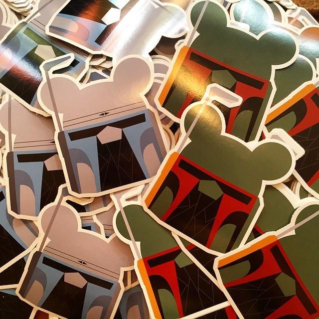 Jango & Boba Keiko stickers designed by Fools paradise Minty Fresh