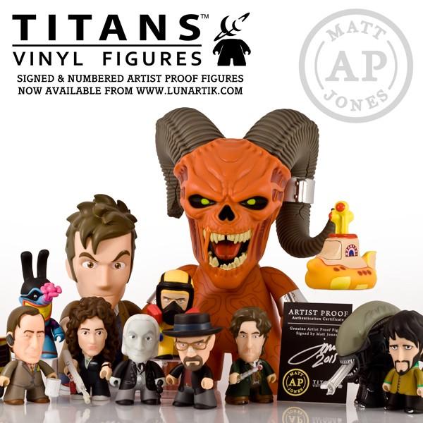 Lunartik Titans vinyl figures