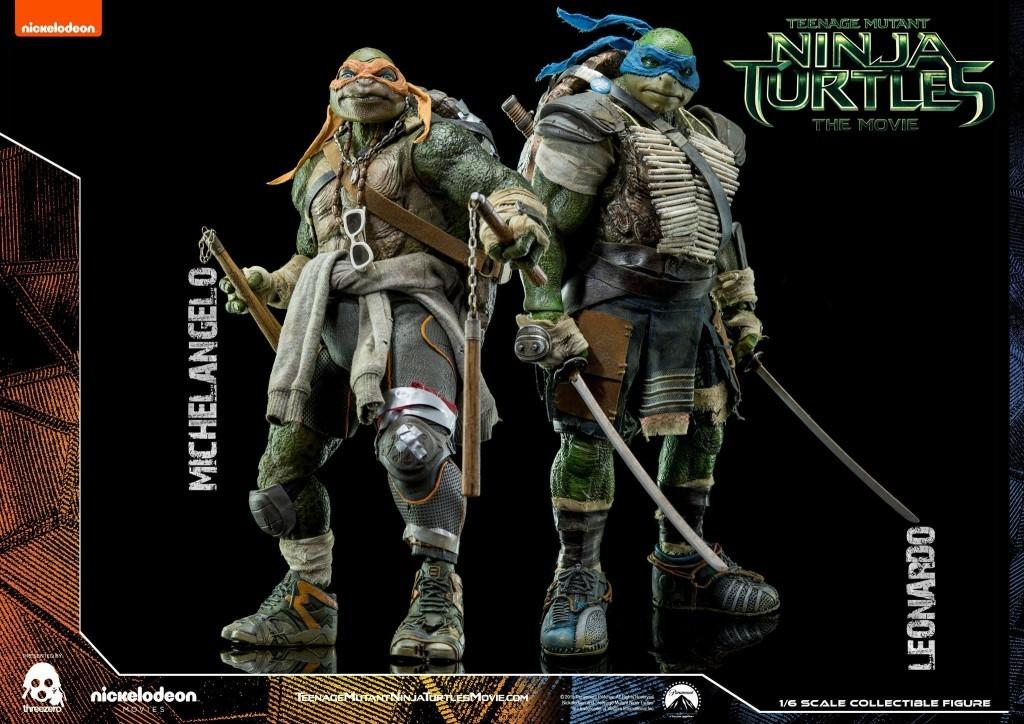 TEENAGE MUTANT NINJA TURTLES -Leonardo and Michelangelo By Threezero  duo