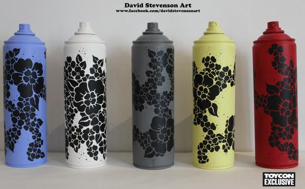 david stevenson flower cans