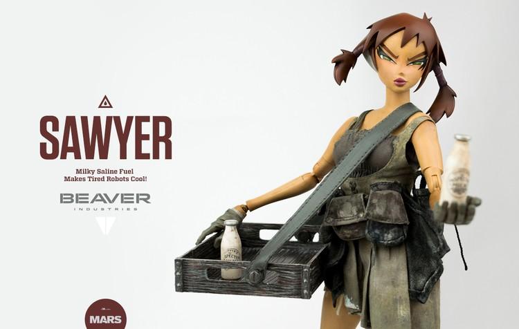 BEAVER INDUSTRIES | SAWYER - ThreeA Crystal Jade Vaughan close up