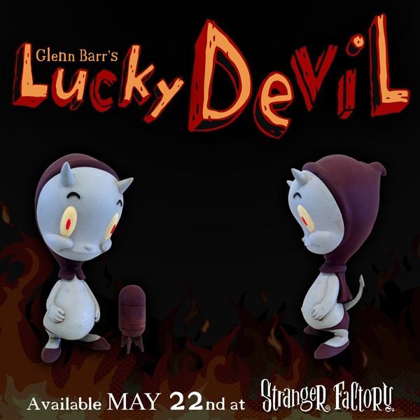 Glenn Barr Lucky Devil Blue Skelve Circus posterus