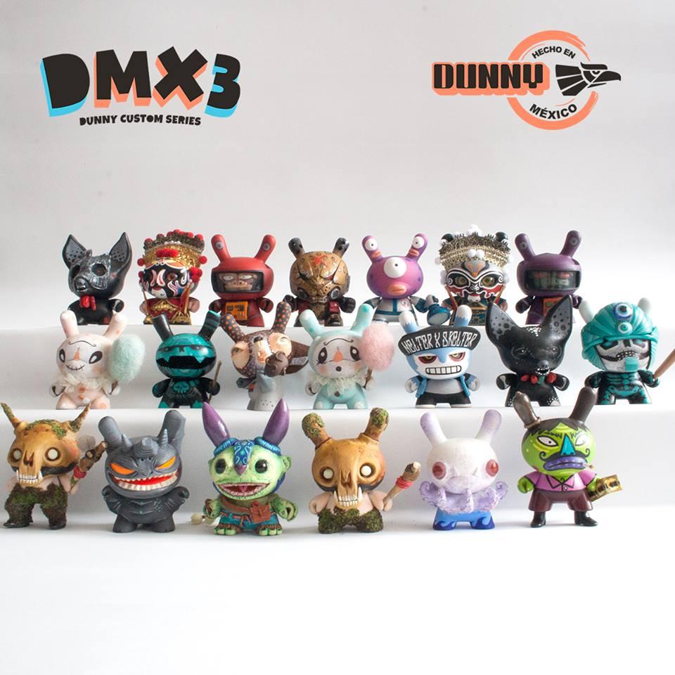Hecho en México Dunny custom series DMX3 line up