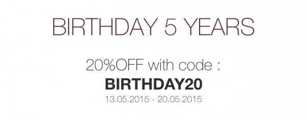 K Olin tribu Birthday SALE celebration discount code