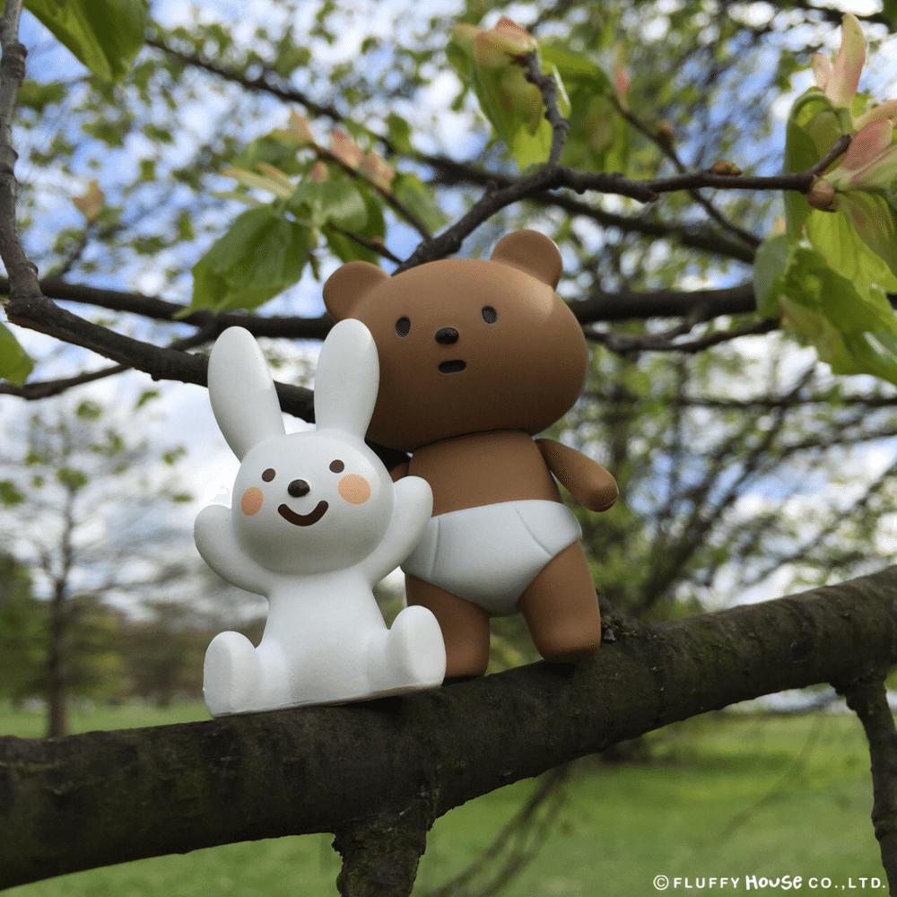 Nappy Bear and Naughty Rabbit By Fluffy House  tree