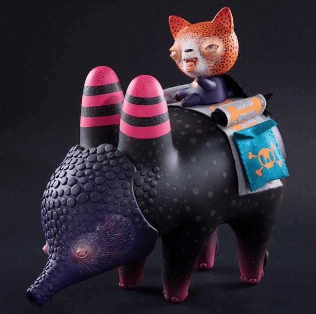 Guerrero Armadillo By Mr Mitote Kidrobot custom Labbit Dunny Trikky 2015