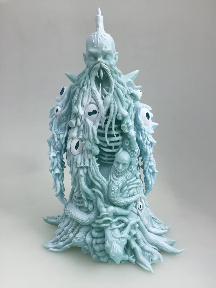 art of Skinner ice blue GID  back unbox industries front