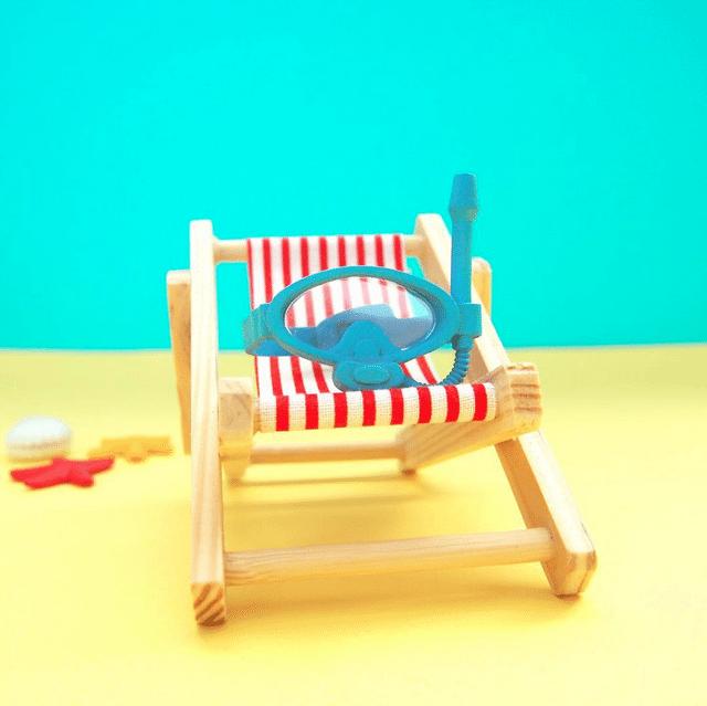 Beach Baldwin By Dolly Oblong  PIQ Kute as Fuh deck chair