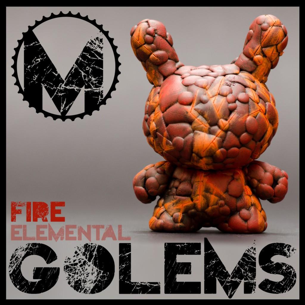 ElementalGolem-Fire Elemental Golems by Mind of the Masons Kidrobot dunny