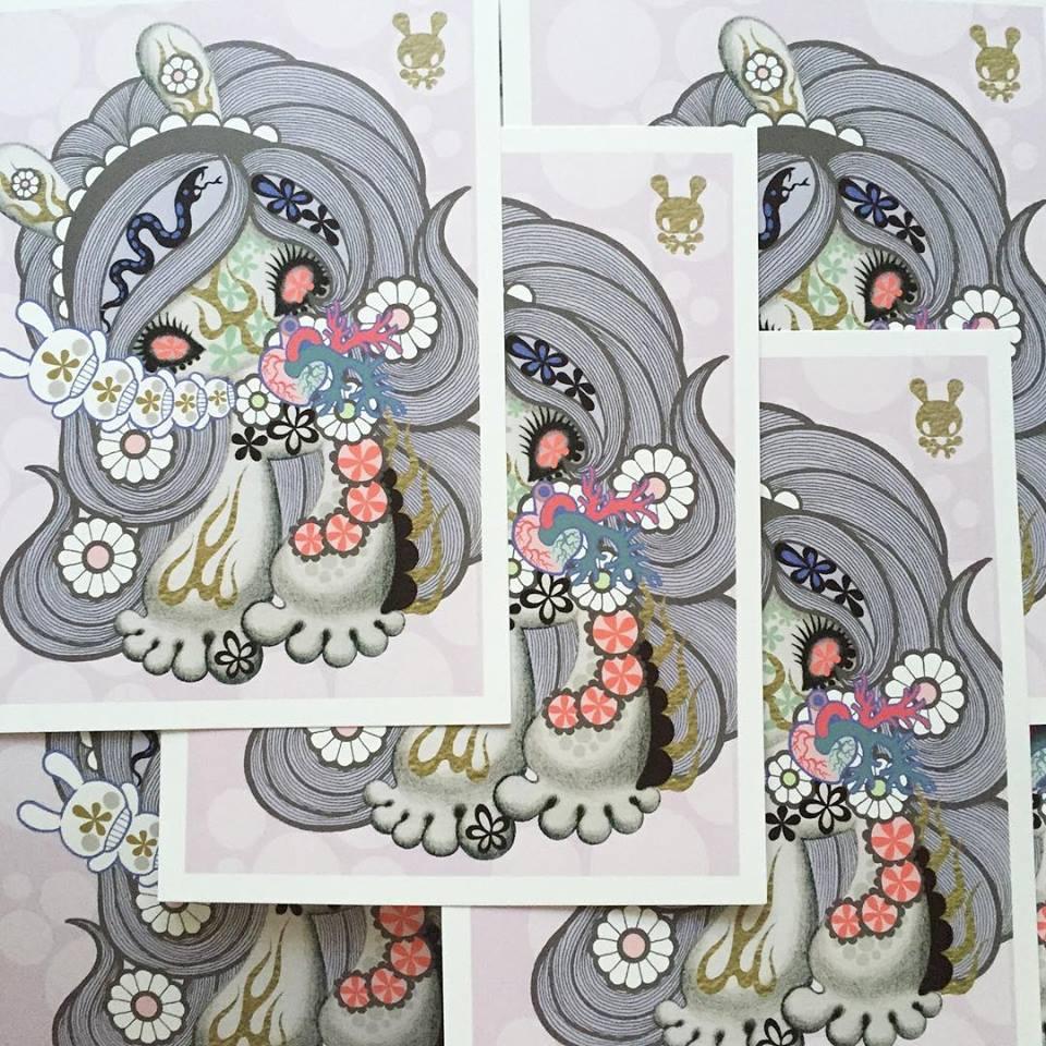 Junko Mizuno Print KRSF Kidrobot Dunny Violet Soda Lady