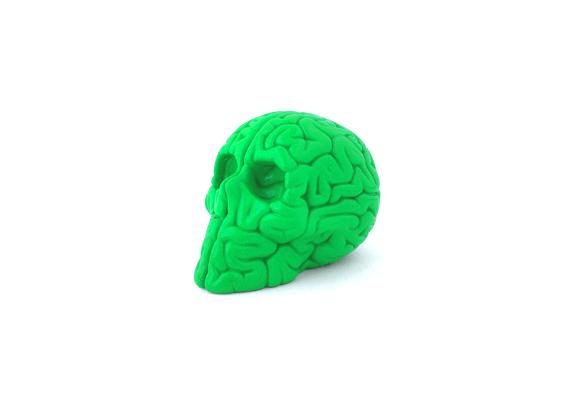 Mini Skull Brain Green Edition By Emilio Garcia