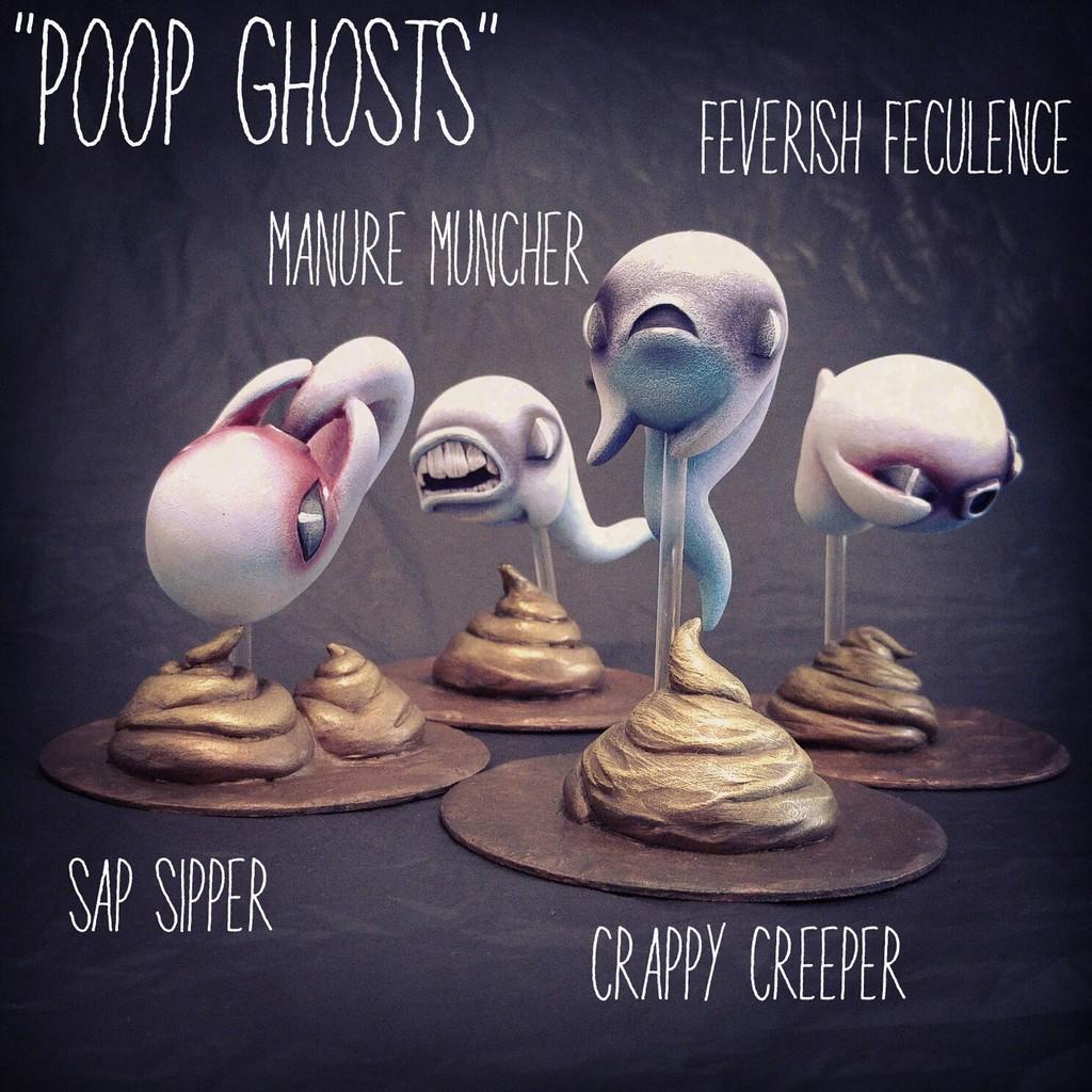 Shadoe Delgado Poop Ghosts wave 1