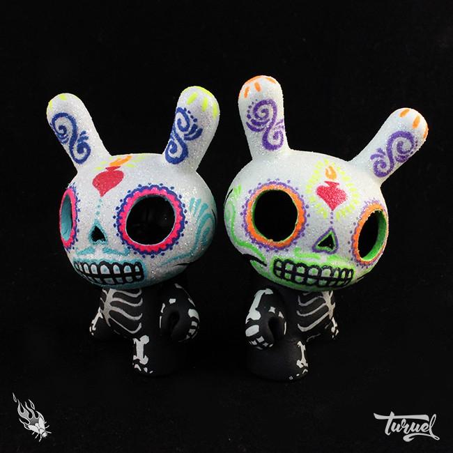 Sugar Skull Dunny series by Turuel Firefly Products Kidrobot Dunny regular