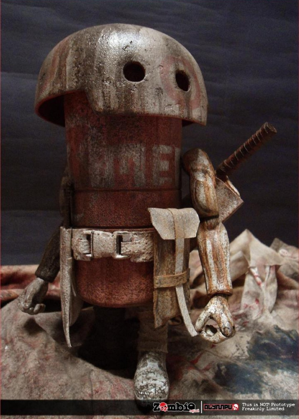 ZOMBIE SQUAD MUSHROOM MEAT ThreeA by ALYMPU front side