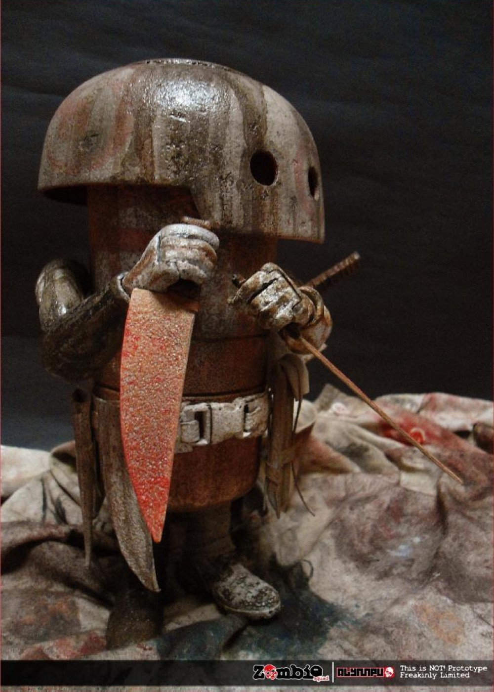 ZOMBIE SQUAD MUSHROOM MEAT ThreeA by ALYMPU knife 2