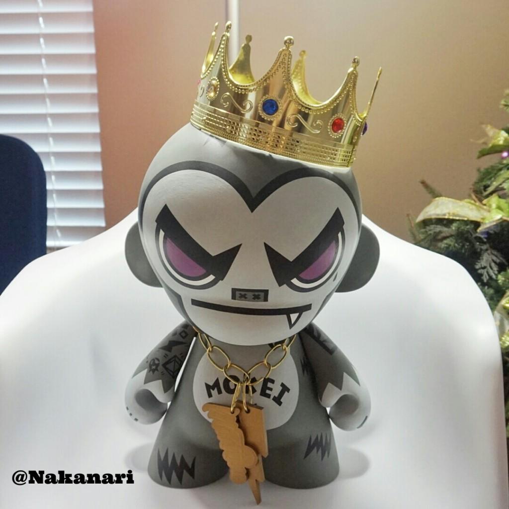 Reign Gorilla The King Mokei by Nakanari Kidrobot Mega Munny front