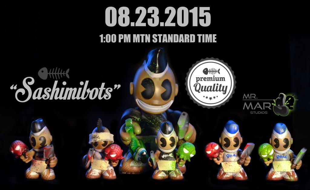 Sashimibots by Mr Mars series 1 Kidrobot Mascot Bot