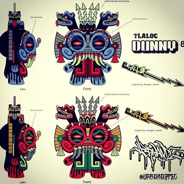 Save Jesse Hernandez s Urban aztec 8inch Tlaloc Kidrobot Dunny