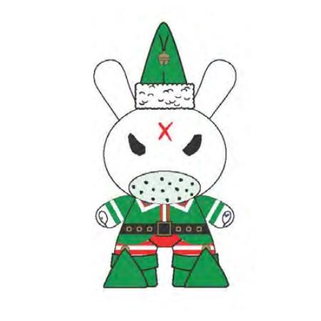 Xmas Dunny Elf 2015 By Frank Kozik x Kidrobot