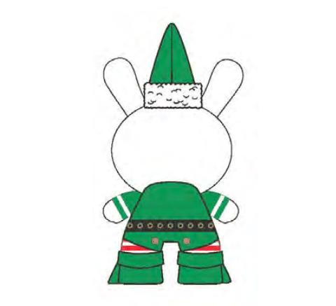 Xmas Dunny Elf 2015 By Frank Kozik x Kidrobot  back